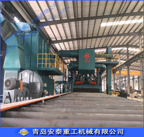 Roller-type steel by shot blasting machine
