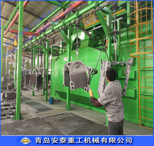 Suspension type shot blasting machine